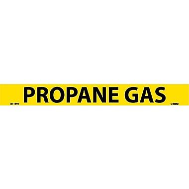 Pipemarker, Adhesive Vinyl, Propane Gas, 1X9 3/4