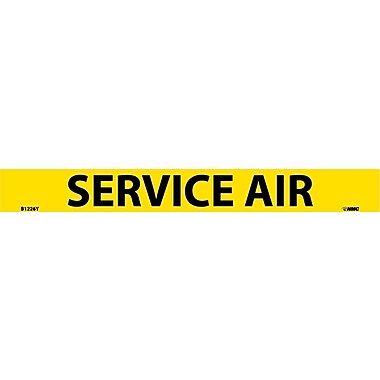 Pipemarker, Adhesive Vinyl, Service Air, 1X9 3/4
