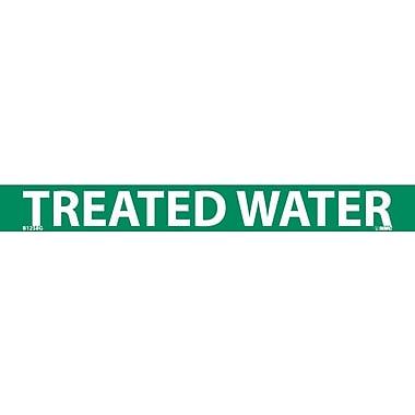 Pipemarker, Adhesive Vinyl, Treated Water, 1X9 3/4