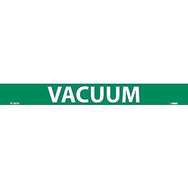 Pipemarker, Adhesive Vinyl, Vacuum, 1X9 3/4