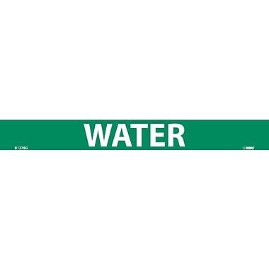Pipemarker, Adhesive Vinyl, Water, 1X9 3/4