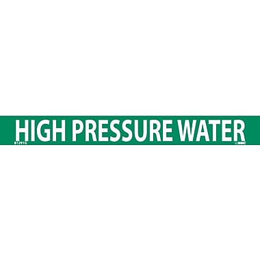 Pipemarker, High Pressure Water, 1X9, 3/4 Letter, Adhesive Vinyl