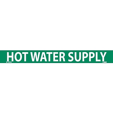 Pipemarker, Hot Water Supply, 1X9, 3/4 Letter, Adhesive Vinyl