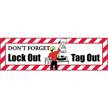 Banner, Don't Forget Lockout Tagout , 3' x 10'