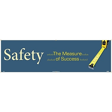 Banner, Safety The Measure Of Success, 3' x 10'