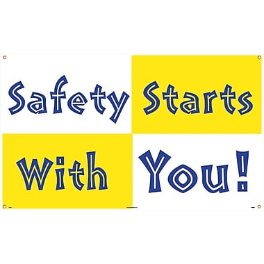 Banner, Safety Starts with You, 3' x 5'