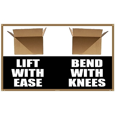 Banner, Lift with Ease Bend with Knees, 3' x 5'