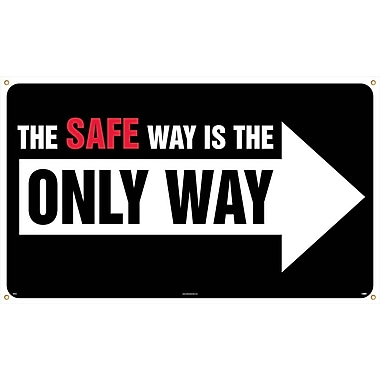 Banner, The Safe Way Is The Only Way, 3' x 5'
