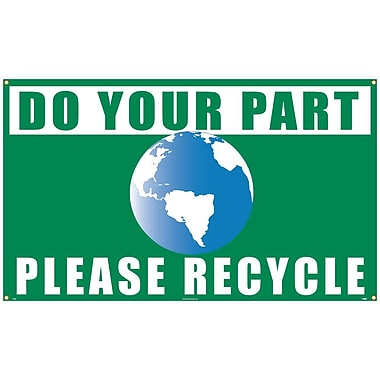 Do Your Part Graphic Please Recycle, 3' x 5', Polyethylene