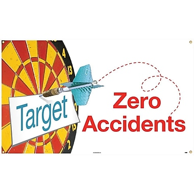 Banner, Target Zero Accidents, 3' x 5'.