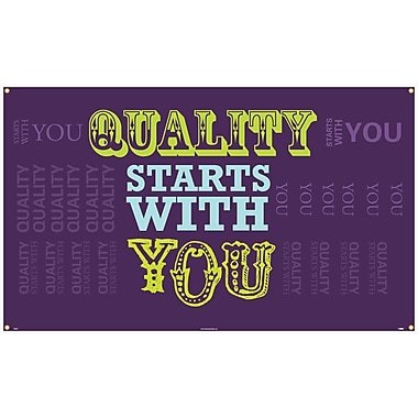 Banner, Quality Starts with You, 3' x 5'