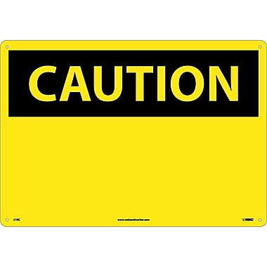 Caution, (Header Only), 14X20, Rigid Plastic