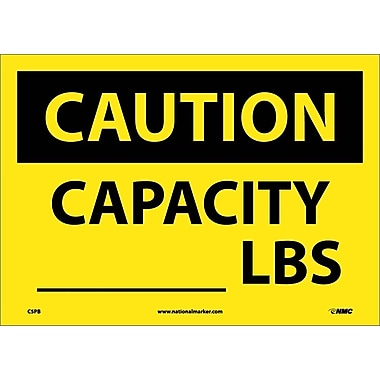 Caution, Capacity ______ Lbs, 10