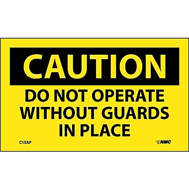 Caution, Do Not Operate Without Guards In Place, 3