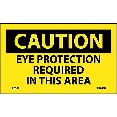 Caution, Eye Protection Required In This Area, 3