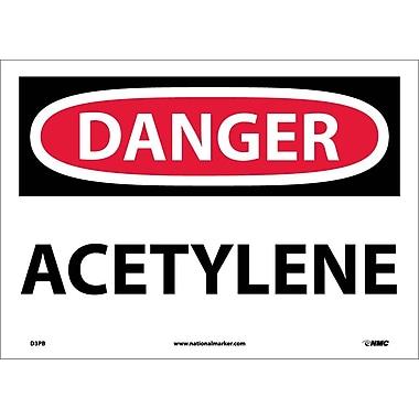 Danger, Acetylene, 10X14, Adhesive Vinyl
