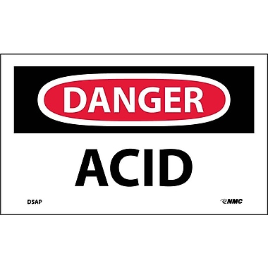 Labels Danger, Acid, 3