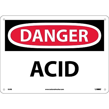 Danger, Acid, 10X14, Rigid Plastic