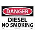 Danger, Diesel No Smoking, 10X14, Adhesive Vinyl