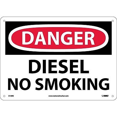 Danger, Diesel No Smoking, 10X14, Rigid Plastic
