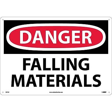 Danger, Falling Materials, 14X20, .040 Aluminum