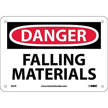 Danger, Falling Materials, 7X10, Rigid Plastic