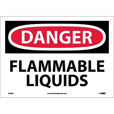 Danger, Flammable Liquids, 10