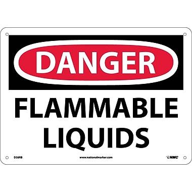 Danger, Flammable Liquids, 10X14, Rigid Plastic