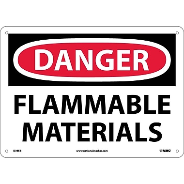 Danger, Flammable Materials, 10X14, Fiberglass