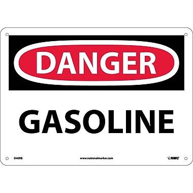 Danger, Gasoline, 10X14, Rigid Plastic