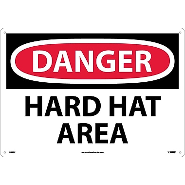 Danger, Hard Hat Area, 14