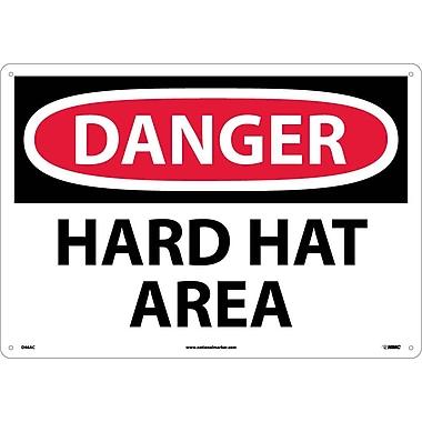 Danger, Hard Hat Area, 14X20, .040 Aluminum