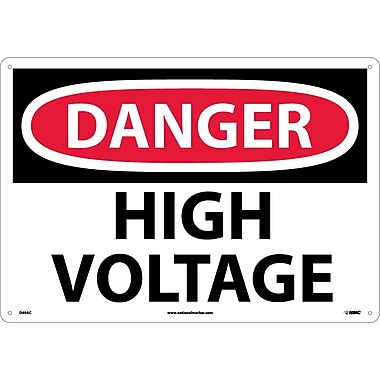 Danger, High Voltage, 14X20, .040 Aluminum