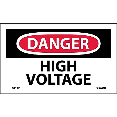 Labels Danger, High Voltage, 3
