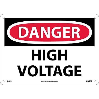 Danger, High Voltage, 10X14, Fiberglass