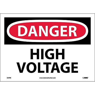Danger, High Voltage, 10X14, Adhesive Vinyl