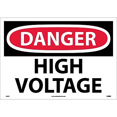 Danger, High Voltage, 14X20, Adhesive Vinyl