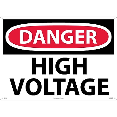 Danger, High Voltage, 20X28, Rigid Plastic