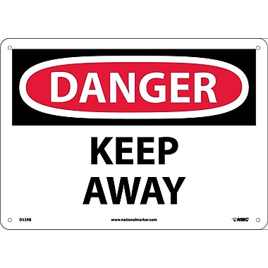 Danger, Keep Away, 10X14, Rigid Plastic