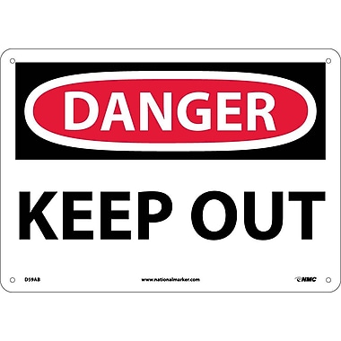 Danger, Keep Out, 10X14, .040 Aluminum