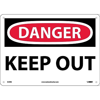 Danger, Keep Out, 10X14, Rigid Plastic