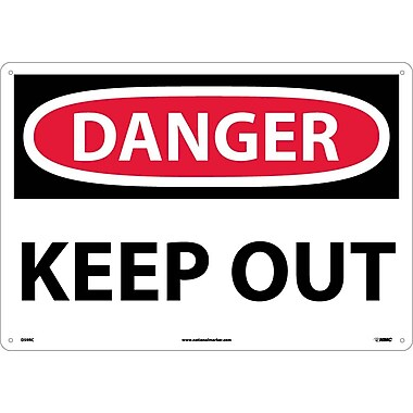 Danger, Keep Out, 14X20, Rigid Plastic