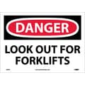 Danger, Look Out For Fork Lifts, 10X14, Adhesive Vinyl