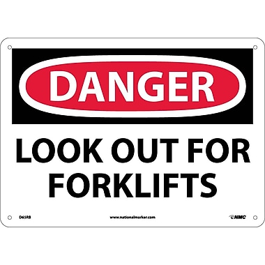 Danger, Look Out For Fork Lifts, 10X14, Rigid Plastic