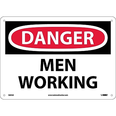 Danger, Men Working, 10X14, .040 Aluminum