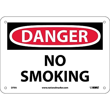 Danger, No Smoking, 7X10, .040 Aluminum