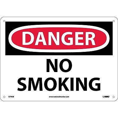 Danger, No Smoking, 10X14, .040 Aluminum