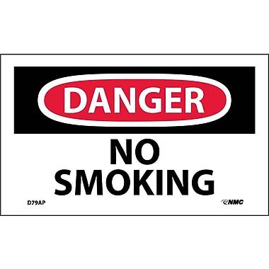 Labels Danger, No Smoking, 3