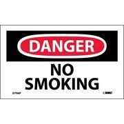 Labels - Danger, No Smoking, 3X5, Adhesive Vinyl, 5Pk
