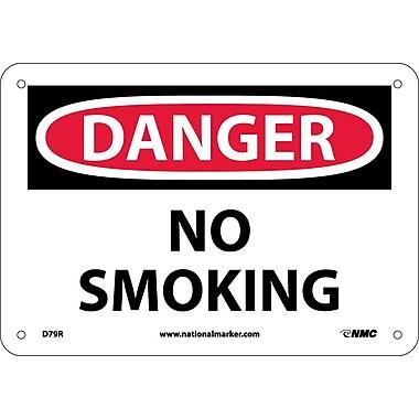 Danger, No Smoking, 7X10, Rigid Plastic
